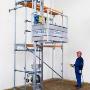Stavební výtahy, shozy, lešenářské vrátky GEDA, výhradní distributor, ...