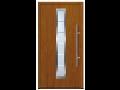 Domovní dveře hliníkové ocelové, provedení zlatý dub ořech Hradec