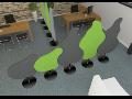 Paravánový systém CREATIV pro kancelářské a společenské prostory