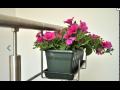 PVC madla na zábradlí bytových domů, nerezové držáky truhlíků na balkonové květiny