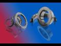 Kulové ventily, kluzné kroužky, keramika na bázi karbidu křemíku