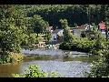 Šemnice, rekreační oblast na řece Ohři, zastávka vodáků