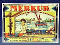 Kovová stavebnice MEKUR, vláčky, lokomotivy, roboti, dětské hračky