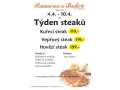 Týden steaků v Restauraci u Baďurů ve Zlíně