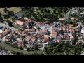 Horšovský Týn, město v údolí Radbuzy s historickým centrem s měšťanskými domy