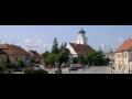 Pohořelice, město s Farním kostelem sv. Jakuba, architektonickou dominantou města v gotickém stylu