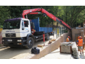 Přeprava nákladním automobilem s hydraulickou rukou