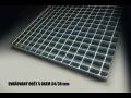 Standardní podlahové ocelové rošty a schodišťové stupně - skladem