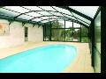 Bezkolejnicové zastřešení bazénů nenaruší vzhled Vaší zahrady