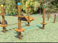 Herní prvky z akátového dřeva pro Mateřské školy.
