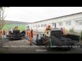 Frézování vozovky frézou Wirtgen, pokládka asfaltu finišery Vogele, Demag