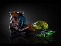 Umělecký sklář, skleněné vázy, plastiky, světelné objekty