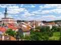 Město Polná se čtyřmi kostely, synagogou, hradem a zámkem