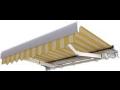 Výsuvné markýzy pro zastínění balkónů, teras a skleněných výloh - montáž,dodávka
