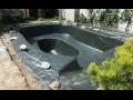 Hydroizolace proti vodě a radonu Uherské Hradiště, zahradní jezírko