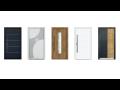 Sortiment doplňků pro vchodové dveře - různé typy klik, madel a rozet