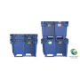 Efektivní pevný paletový plastový kontejner s lyžinami či kolečky je ...