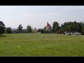 Obec Tuhaň v okrese Česká Lípa, vyhlášená lidová architektura, empírová zvonice, barokní kostel