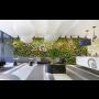 Vertikální kaskádové zahrady, interiérová zeleň