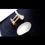 Manžetové knoflíky přírodní z perleti Žirovnice, tradiční česká výroba knoflíků, galanterie, Eshop