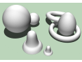 Expanded polystyrene, crushed polystyrene, foamy balls