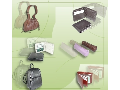 INDIA; Leather folders, bags and handbags
