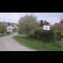 Obec Čechy v Olomouckém kraji, historická zvonice na návsi, místní koupaliště se skluzavkami