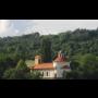 Obec Želkovice, Ústecký kraj, kostel Petra a Pavla s románskou rotundou, pseudorománská loď