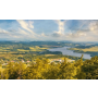 Obec Dětřichov nad Bystřicí okres Bruntál, kostel zasvěcený sv.Jiří, přírodní rezervace Panské louky