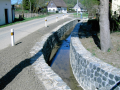 Hrazení bystřin retenční nádrže regulace vodních toků Liberec.