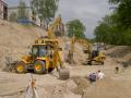 Zemn� pr�ce demolice budov t�ebn� pr�ce Liberec kanalizace.