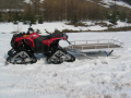 Hliníkové saně za sněžné skútry a čtyřkolky