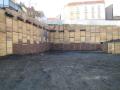 Záporové pažení stavebních jam, kotvy