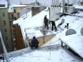 Shoz úklid odklízení odstraňování sněhu námrazy rampouchů ledu Liberec Praha.