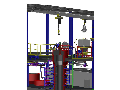 Testbrennkammer f�r die Pr�fung staubf�rmiger Kohle, die Tschechische Republik