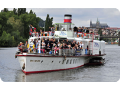 Restaurace na parn�ku, na lodi Praha