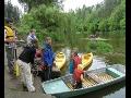 Letní tábor pro děti a rodiče v údolí řeky Sázavy