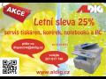Servis čištění  PC notebooků tiskáren - Akce letní sleva 25%