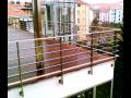 Ocelové a nerezové schodiště, stěny, ocelové prosklené stěny