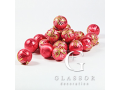 Produktion Verkauf traditioneller Weihnachtsschmuck geblasene handgemalte Weihnachtsdekoration aus Glas, die Tschechische Republik