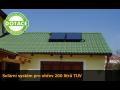 Solární systémy pro ohřev vody.