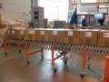 Výroba dopravníků - válečkové, pásové, nůžkové, spirálovité, výsuvné