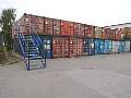 Pron�jem skladovac�ch prostor� v ocelov�ch n�mo�n�ch kontejnerech