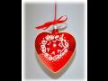 Valent�nsk� srd��ka sklen�n�, ru�n� v�roba, v�no�n� ozdoby, origin�ln� d�rek na zak�zku