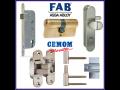 Dveřní a okenní kování CEMOM, zámky FAB