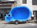 Montáž plastových bazénů, plastové bedny