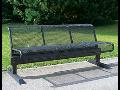 Prodej, výroba kované ocelové parkové lavičky Valašské Meziříčí