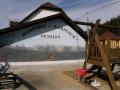 Venkovní posezení u grilování, rodinný penzion Valašská Bystřice