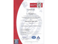 Certificate: heat treatment and chemical-heat treatment od metal, management ISO 9001:2015