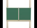 Bílé, zelené magnetické tabule v rámu, tabulové systémy Zlín